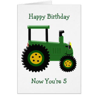 Traktor-5. Geburtstag Karte