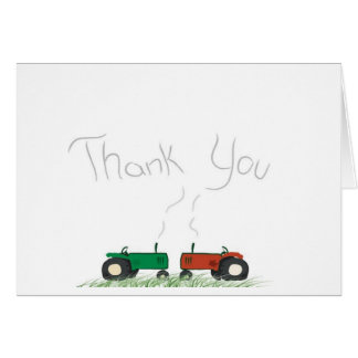 Traktor-Dankes- Karte