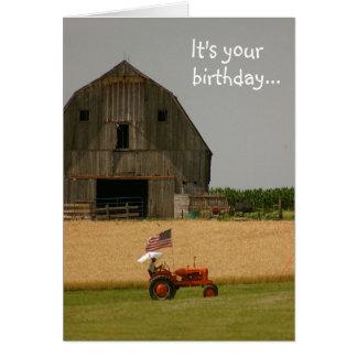 Traktor-Geburtstags-Karte: Zeit zu feiern! Grußkarte