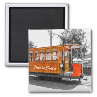 Tram-Andenken Mallorca Port de Soller Old Quadratischer Magnet