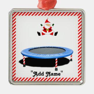 Trampoline-Weihnachten Silbernes Ornament