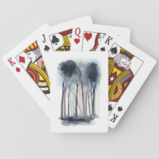 Tranquil abstrakte Bäume Spielkarten