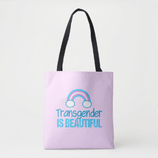 Transgender-schöner Regenbogen Tasche