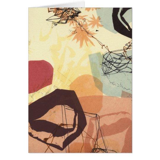 Transmissive Form-abstrakte Kunst-Karte Grußkarte