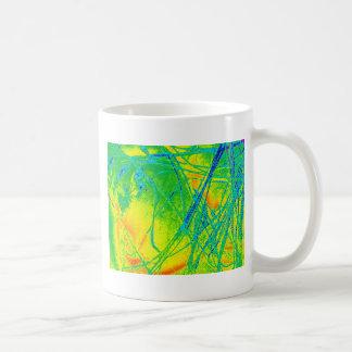 transparentes Regenbogengewebe Kaffeetasse