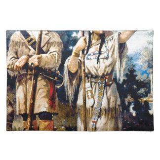 Trapper und indische Frau Tischset