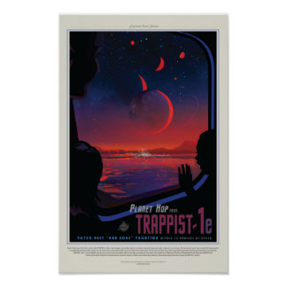 TRAPPIST-1e Exoplanet Poster