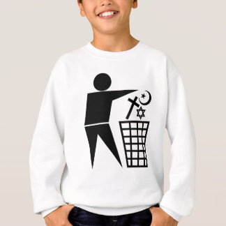 Trash_Religion_b-on-w_no-site Sweatshirt
