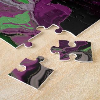 Traube und Grün-abstraktes Puzzle