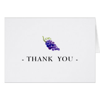 Trauben auf dem Rebe-Wein-Aquarell danken Ihnen zu Karte