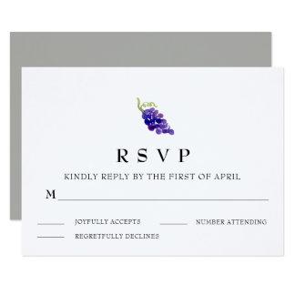 Trauben auf der Rebe-Wein-Hochzeit UAWG Karte