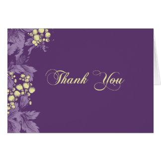 Trauben-Blätter dankt Ihnen Anmerkungskarte Karte