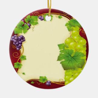 Trauben-Blätter Keramik Ornament
