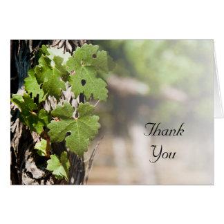 Trauben-Blätter-Weinberg danken Ihnen Karte