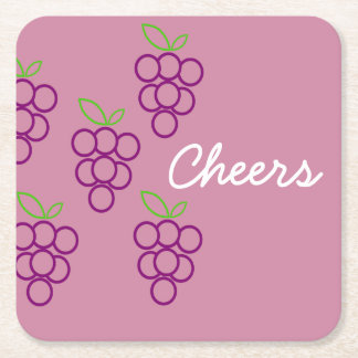 Trauben-Gruppen in rosa und in Lila Rechteckiger Pappuntersetzer