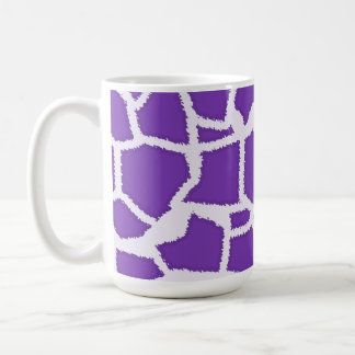 Trauben-lila Giraffen-Tierdruck Kaffeetasse
