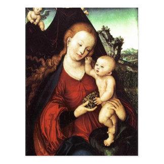 Traubenmadonna von Lucas Cranach D.?. um 1525? L Postkarten