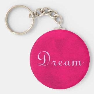 Traum auf rosa Hintergrund Schlüsselanhänger
