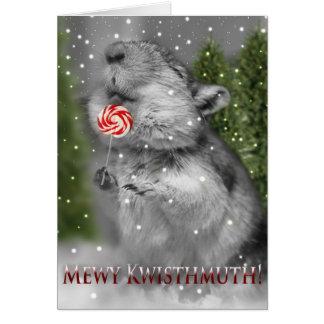 Traum eines Gerbils Weihnachts Karte
