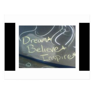 Traum glauben inspirieren Stern Postkarten