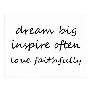 Traum inspirieren Liebe Postkarte