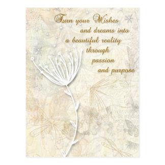 Traum-inspirierend Postkarte