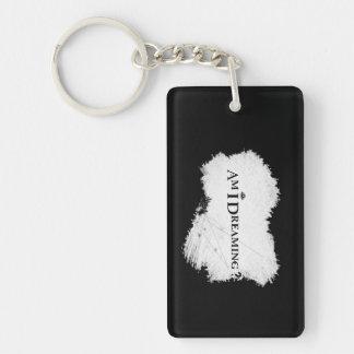 Träume ich? Keychain Rechteck-Doppeltes versah Schlüsselanhänger