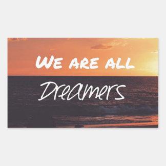 Träume Rechteckiger Aufkleber