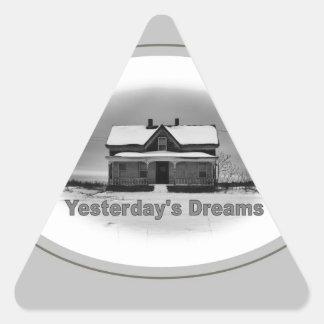 Träume von gestern Dreiecks-Aufkleber