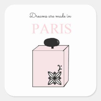 Träume werden in Paris gemacht Quadratischer Aufkleber