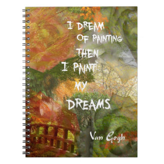Träumen der grauen und orange Rosen Spiral Notizblock