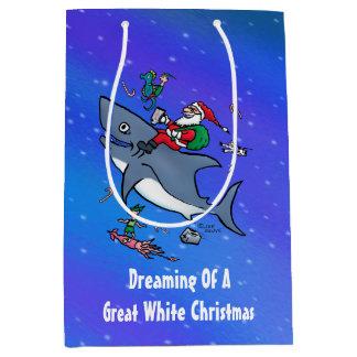 Träumen eines Hai-Weihnachtsbrauchs Mittlere Geschenktüte