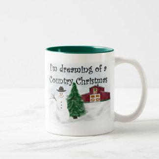 Träumen eines Land-Weihnachten 11 Unze Zwei-Ton Zweifarbige Tasse