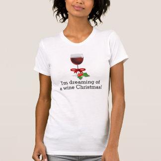 Träumen eines Wein-Weihnachtslustigen T-Shirt