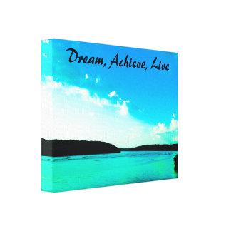 Träumen Sie, erzielen Sie, leben Sie Galerie Falt Leinwand