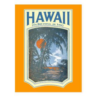 Träumen von Hawaii-Postkarte Postkarte