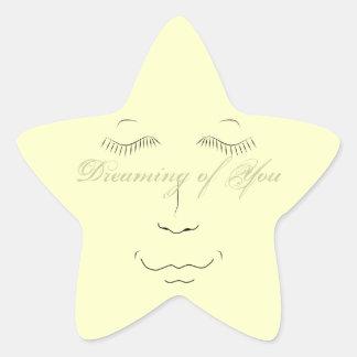 Träumen von Ihnen Stern-Aufkleber Stern-Aufkleber