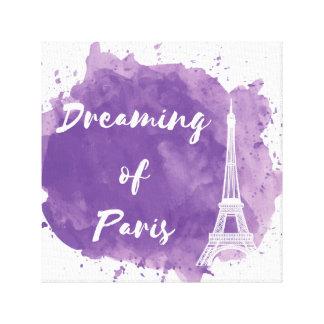 Träumen von Paris - Leinwand-Wand-Kunst Leinwanddruck