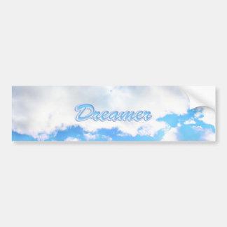 Träumer-geschwollene weiße Wolken und blauer Autoaufkleber