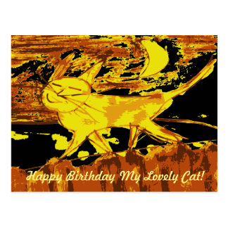 Träumerische Katzen-glückliche Geburtstagskarten Postkarte