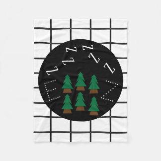 Träumerisches ZZZs Monogramm-Trendy karierte Bäume Fleecedecke