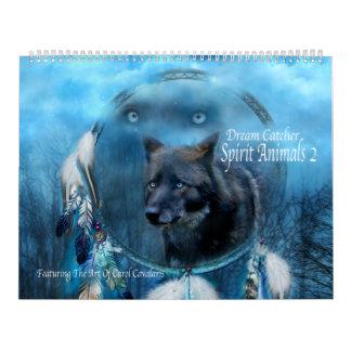 Traumkunst-Kalender der fänger-Geist-Tier-2 Wandkalender