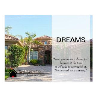TraumZuhause-wirkliche Anwesenpostkarte Postkarte