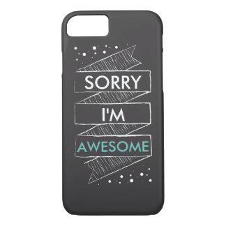 TRAURIG bin ich die FANTASTISCHE lustige Tafel iPhone 7 Hülle