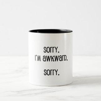 Traurig bin ich ungeschickt zweifarbige tasse