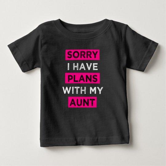Traurig habe ich Pläne mit meinem lustigen Baby T-shirt