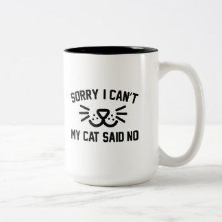 Traurig kann ich nicht zweifarbige tasse