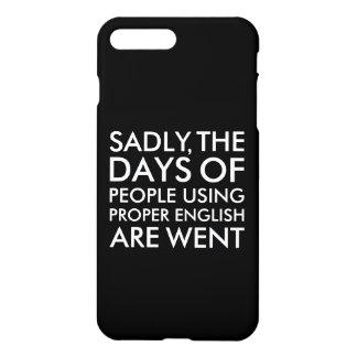 Traurig Leute, die richtige englische iPhone 8 Plus/7 Plus Hülle