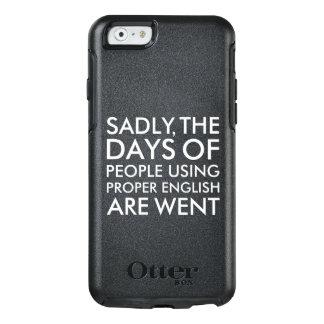 Traurig Leute, die richtige englische OtterBox iPhone 6/6s Hülle