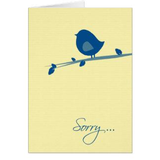 Traurig sind Sie nicht Gefühl Gut-Vogel auf Karte